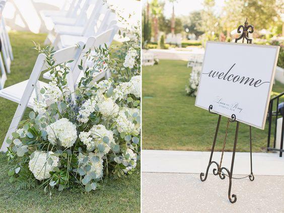 Garden Wedding Ceremony Aisle