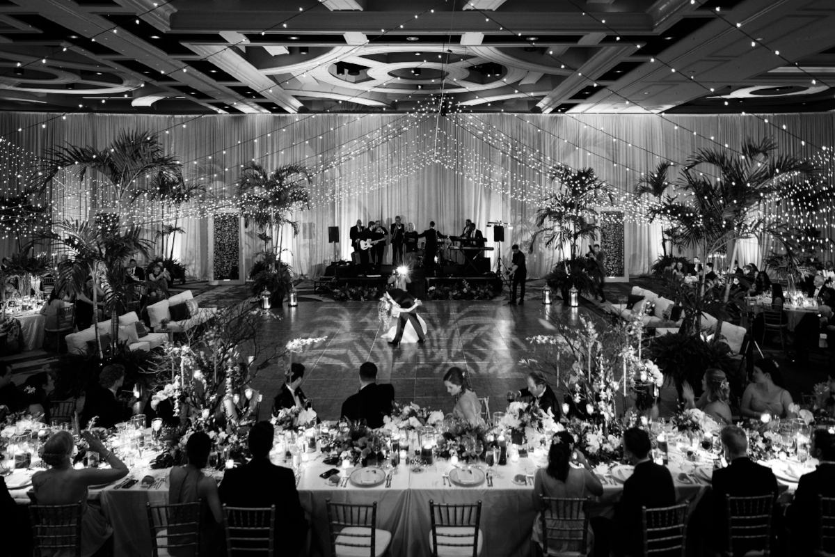 Canopy Lights | Ritz Carlton Orlando Ballroom Reception | Lisa Stoner Events