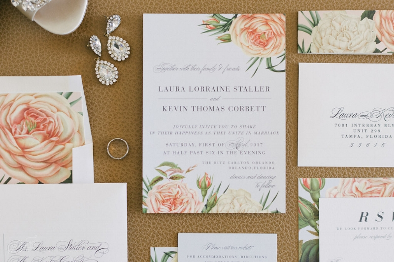 Botanical Wedding Invitation || Lisa Stoner Events || Jordan Weiland Photography