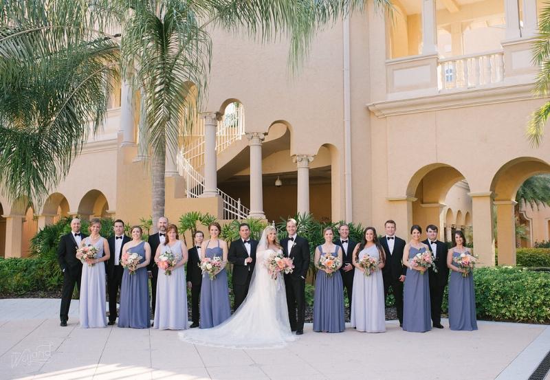 Ritz Carlton Orlando Citrus Garden Wedding Party || Lisa Stoner Events || Jordan Weiland Photography
