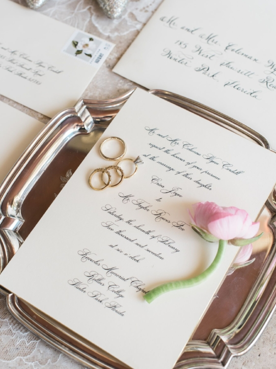 Lisa Stoner Events - Luxury Central Florida Weddings - Orlando Weddings - Classic Southern Wedding - Winter Park -Interlachen Country Club - wedding invitation - calligraphy.jpg