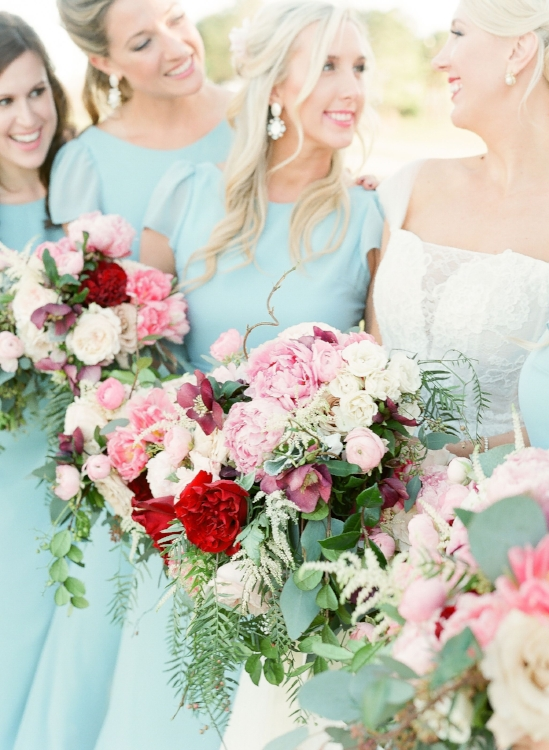 Lisa Stoner Events - Luxury Central Florida Weddings - Orlando Weddings - Classic Southern Wedding - Winter Park -Interlachen Country Club - Knowles Chapel -tiffany bluebridemaids dresses - wedding party - bridesmaids- pink peonie bouquet .jpg