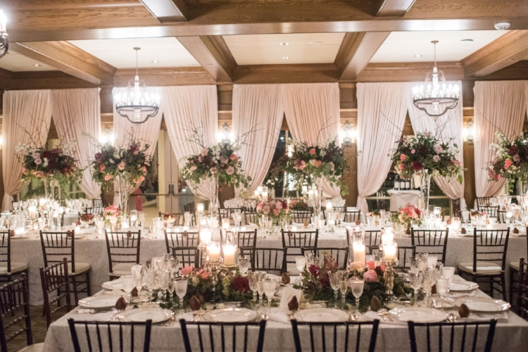 Lisa Stoner Events - Luxury Central Florida Weddings - Orlando Weddings - Classic Southern Wedding - Winter Park -Interlachen Country Club - beautiful ballroom - long tables - draping - uplighting.jpg