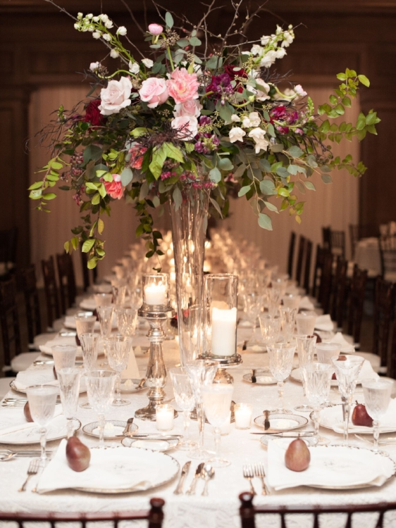 Lisa Stoner Events - Luxury Central Florida Weddings - Orlando Weddings - Classic Southern Wedding - Winter Park -Interlachen Country Club - long tables - peonie centerpieces - lace linen.jpg