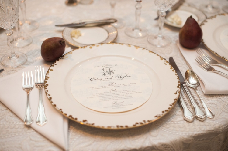 Lisa Stoner Events - Luxury Central Florida Weddings - Orlando Weddings - Classic Southern Wedding - Winter Park -Interlachen Country Club - round menu cards.jpg