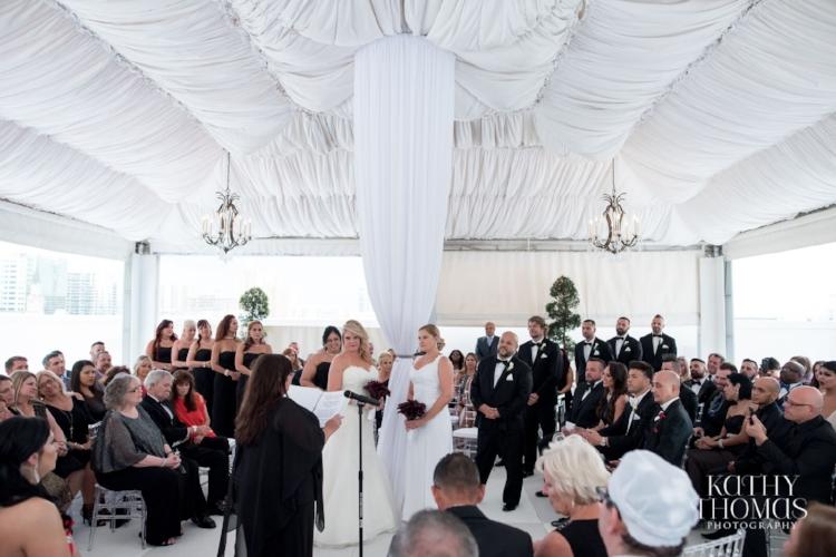 Lisa Stoner Events - Luxury Weddings - Orlando Weddings - Grand Bohemian Hotel - black tie wedding - same sex wedding - Marriage Equality  - Wedding Planner - modern wedding - two brides - roof top wedding ceremony.jpg