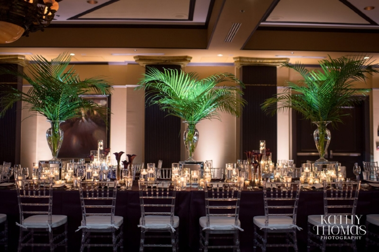 Lisa Stoner Events - Luxury Weddings - Orlando Weddings - Grand Bohemian Hotel - black tie wedding - same sex wedding - Marriage Equality  - Wedding Planner - plum and grey wedding - long reception tables - clear chiavari chairs.jpg