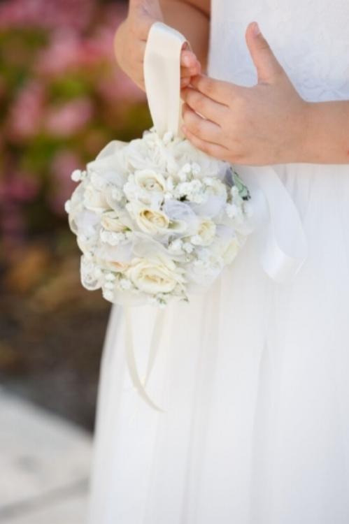 lisa stoner events- orlando wedding planner- central florida wedding planner- flower girl - white wedding flowers -white kissing ball.jpg