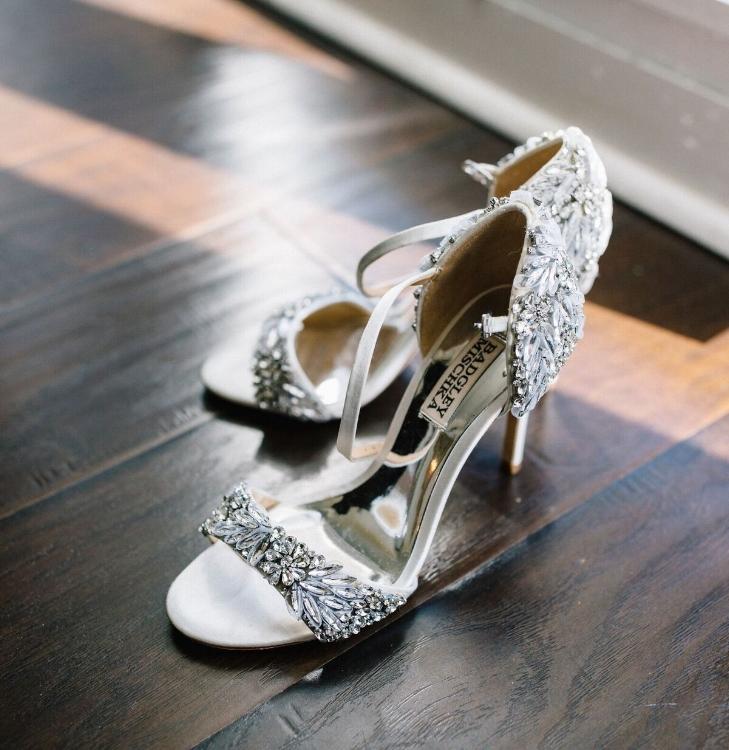 lisa stoner weddings- luxury wedding planner in central florida - hammock beach wedding- badgley mischka - wedding shoes.jpg
