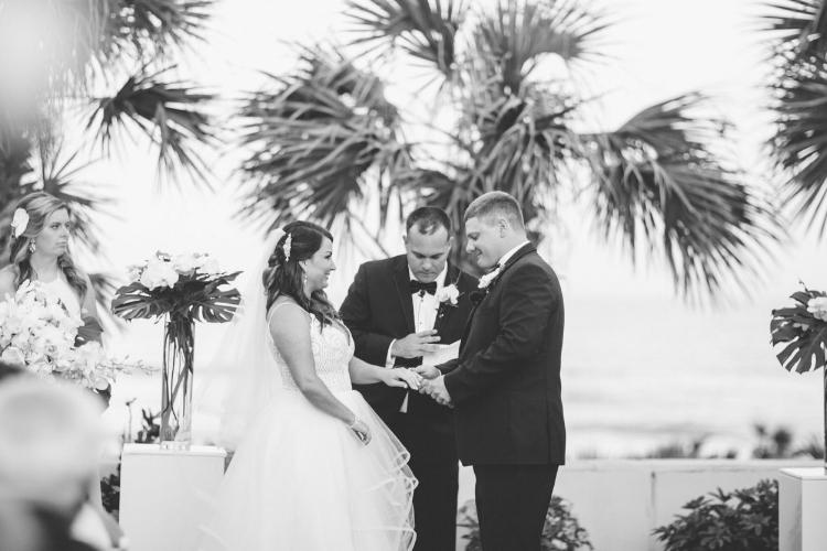 lisa stoner event planning - hammock beach wedding ceremony- palm coast luxury wedding planner - black and white wedding photography- wedding ceremony.jpg