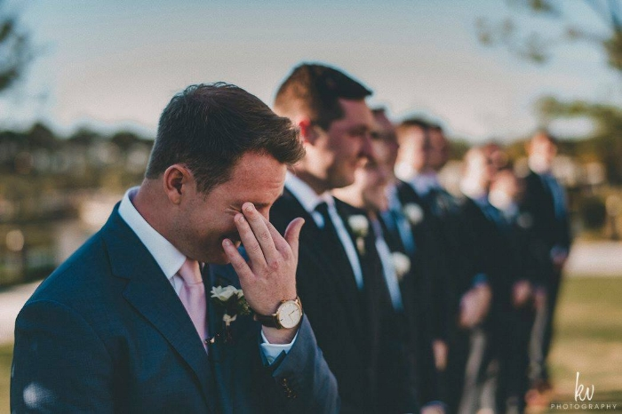 lisa stoner weddings- four seasons orlando- groom - first look - outdoor orlando wedding ceremony.jpg