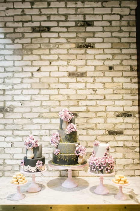 lisa stoner events- oxfor exchange- styled shoot- unique wedding cakes- black wedding cakes - trio of wedding cakes- oxford exchange.jpg