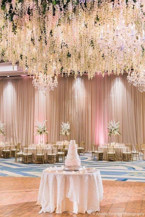 lisa stoner events- luxury orlando weddings- ritz carlton orlando - floral chandelier - rose gold wedding - draping for orlando wedding.jpg