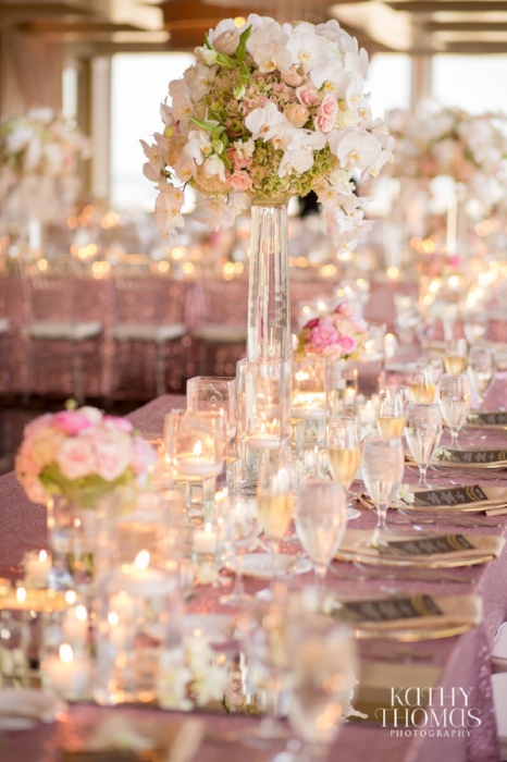 Lisa Stoner Events- orlando luxury wedding- citrus club wedding - stylish orlando wedding - pink and white wedding- pink sparkly linen.jpg