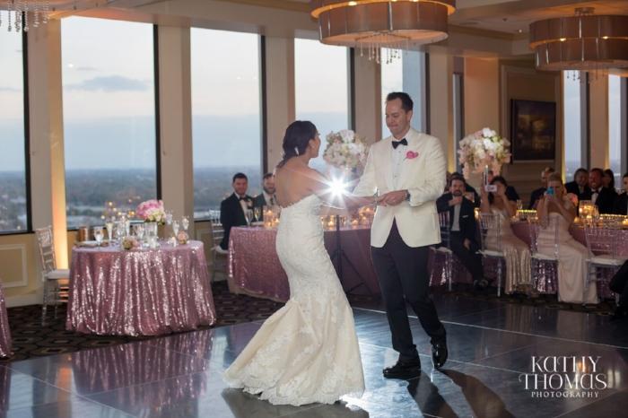 lisa stoner events- kathy thomas photography - luxury orlando wedding - first dance- pink wedding - downtown orlando wedding - citrus club wedding.jpg