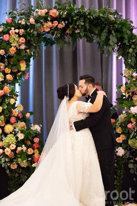 Lisa Stoner Events- Orlando Luxury Wedding Planner- Ritz Carlton Orlando – Ritz Carlton Wedding -ballroom wedding reception - first kiss.jpg
