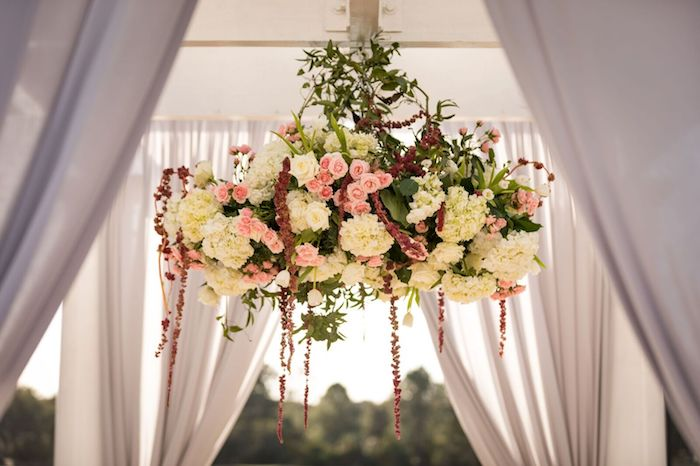 13-Lisa Stoner Events- Ritz Carlton Orlando – Orlando luxury wedding planner – Ritz Carlton Orlando wedding-floral chandelier for wedding ceremony.jpg