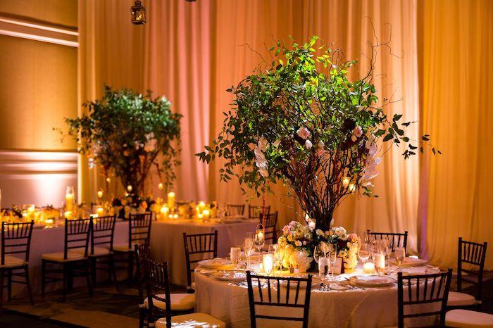 20-Lisa Stoner Events- Ritz Carlton Orlando – Orlando luxury wedding planner – Ritz Carlton Orlando wedding-centerpieces with trees.jpg