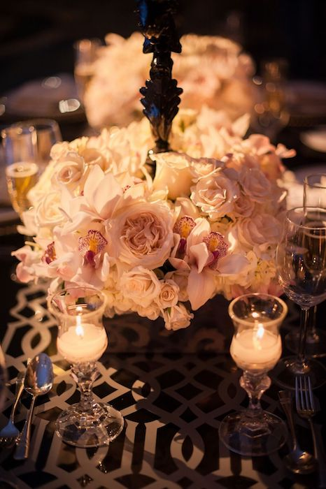 Lisa Stoner Events – Orlando LGBTQ Wedding Planner – Luxury Same Sex Weddings – Ritz Carlton Orlando - antique rose centerpieces.jpg