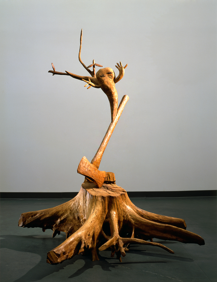Timbers cross in hearts of men,  sway aloft in whispering wind., 1977