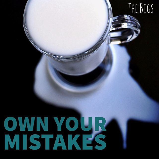 "No need to cry over spilled milk, but remember our founder Ben's advice: ""When you make mistakes quickly own up to them. Apologize, correct the problem, and move on."" #careeradvice #professionalism #professionaldevelopment"