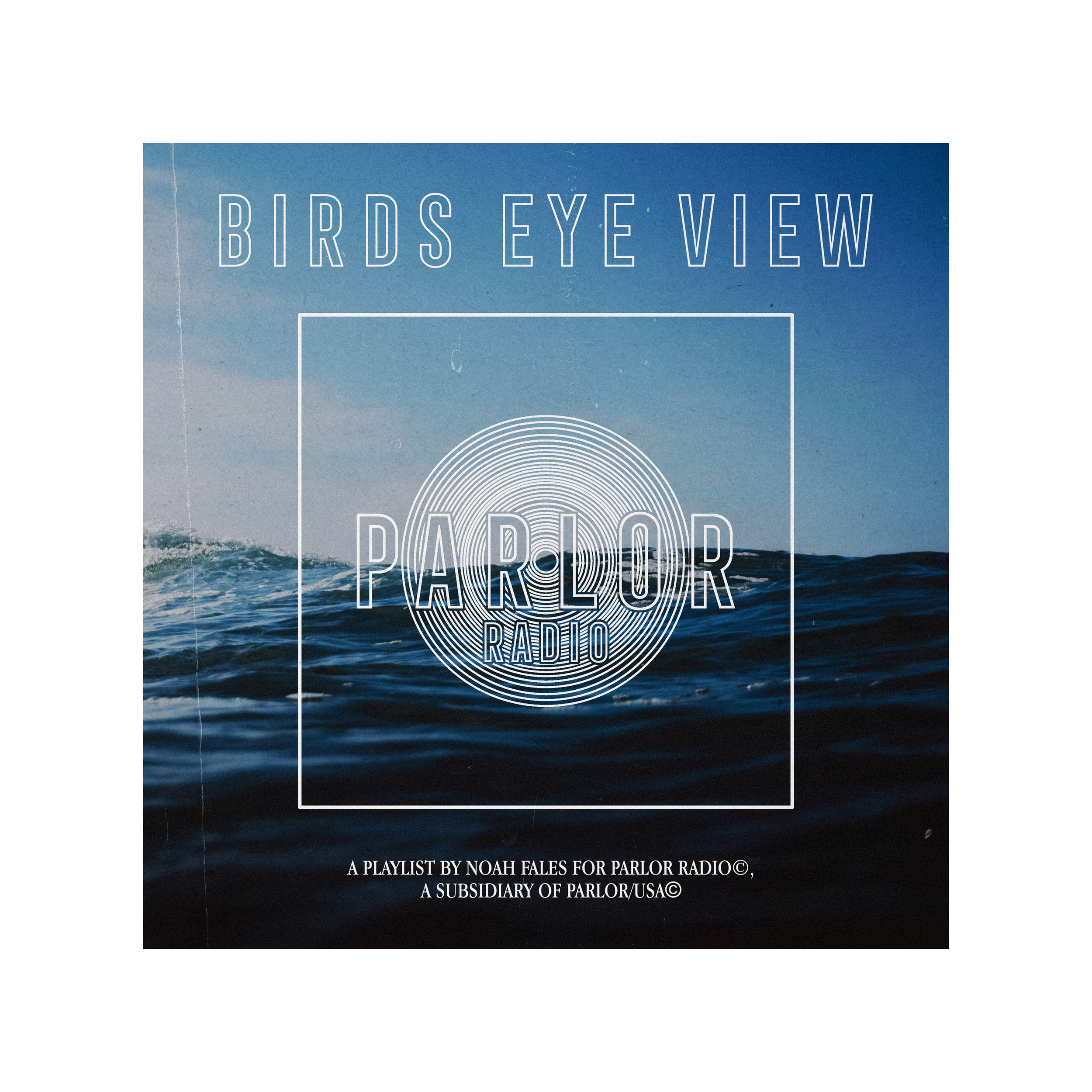 BIRD's EYE VIEW - A PLAYLIST BY NOAH FALES FOR parlorRADIO