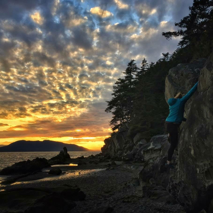 Bouldering at Clayton Beach. Photo by  Audra Lee