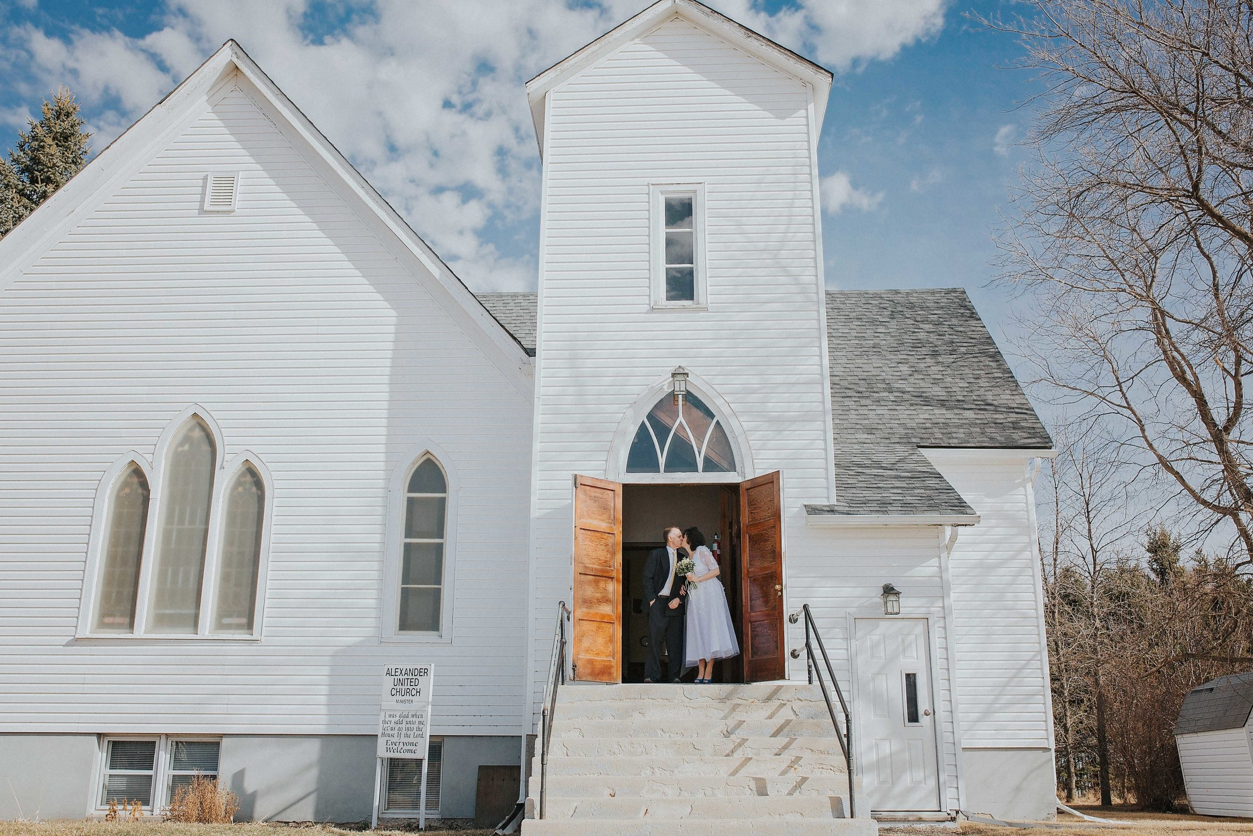 April is always such a beautiful time of the year. Snow is gone, the sun is out, everything is just splendid. Randy + Kristine got married in a very quaint church in Alexander, MB. I am so happy that I got to capture their love on their very special day.