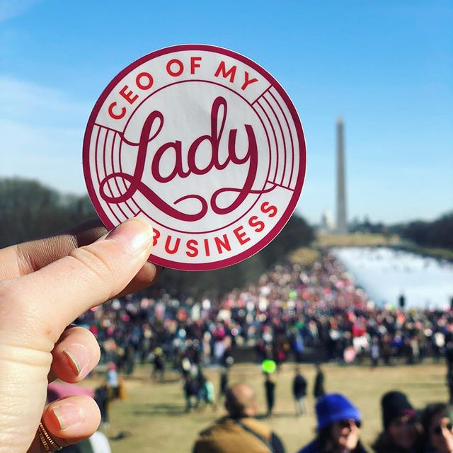 Shoutout to the mad & motivated marchers across the country 💪 Get yourself some year-round resistance gear (like this sticker!) online at BeNice.Shop — proceeds support @ppact @emilys_list & more 💕
