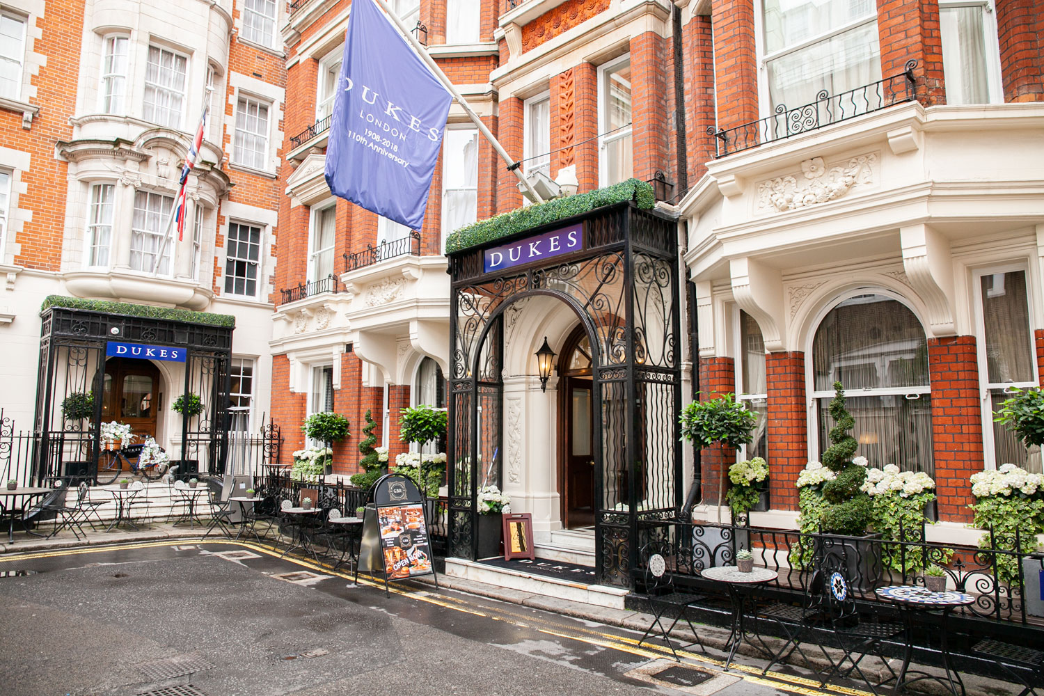 Hidden away in a back-alley of St. James you will find Dukes Hotel, where Princess Diana was a regular, and Ian Fleming once was served an exceptional drink, shaken not stirred, more commonly known as the preferred drink of a very special agent.