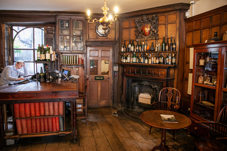 The office of Berry Bros & Rudd wine merchants