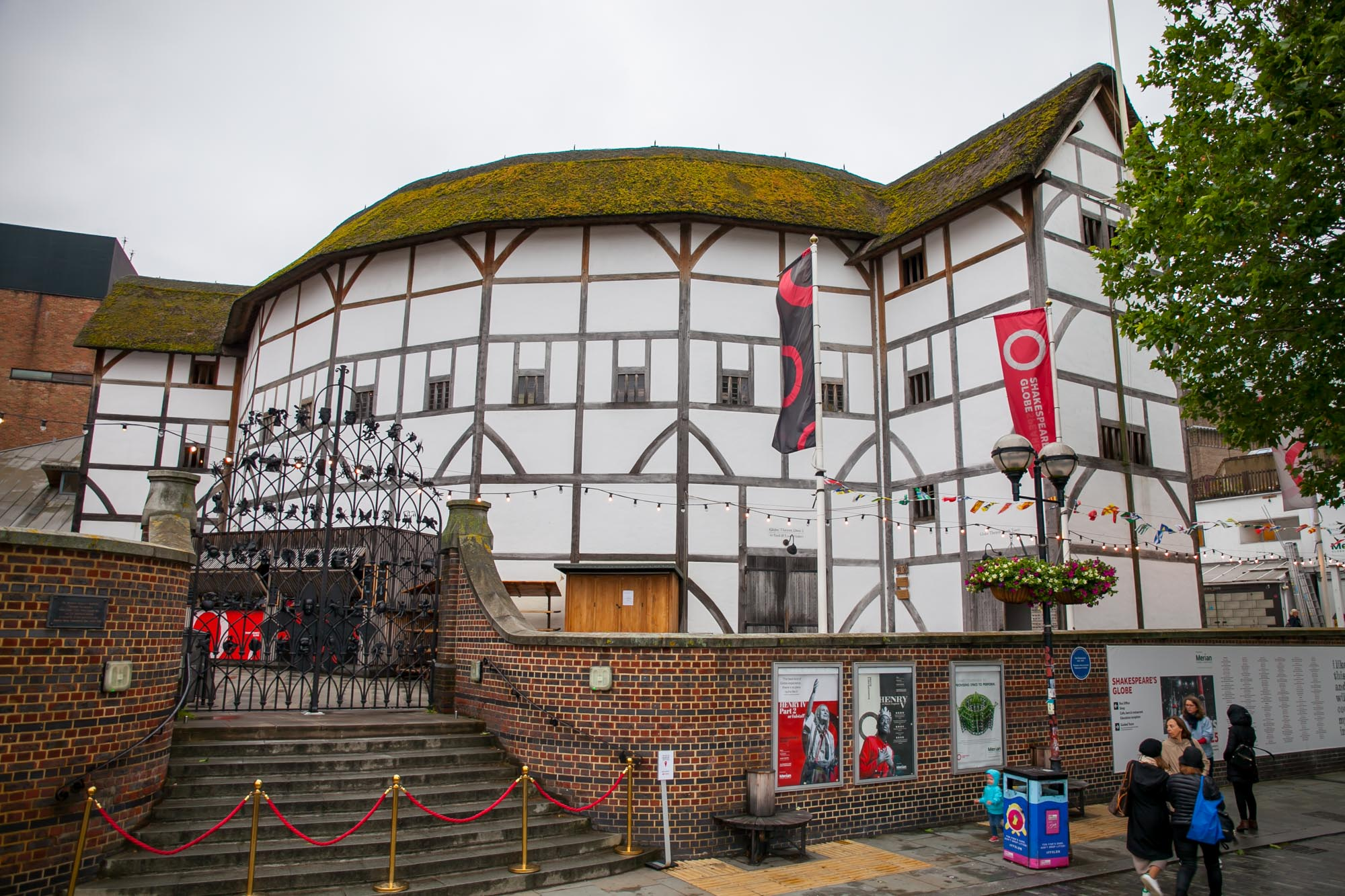 The modern reconstruction of Globe Theatre