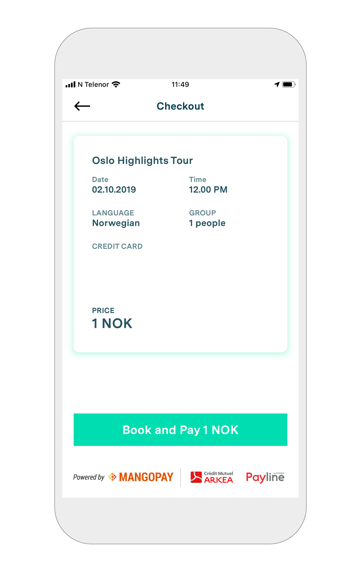 7. Checkout - An overview of your booking will appear.Hit 'Book and Pay'.You have now booked your first tour with a professional certified guide :)