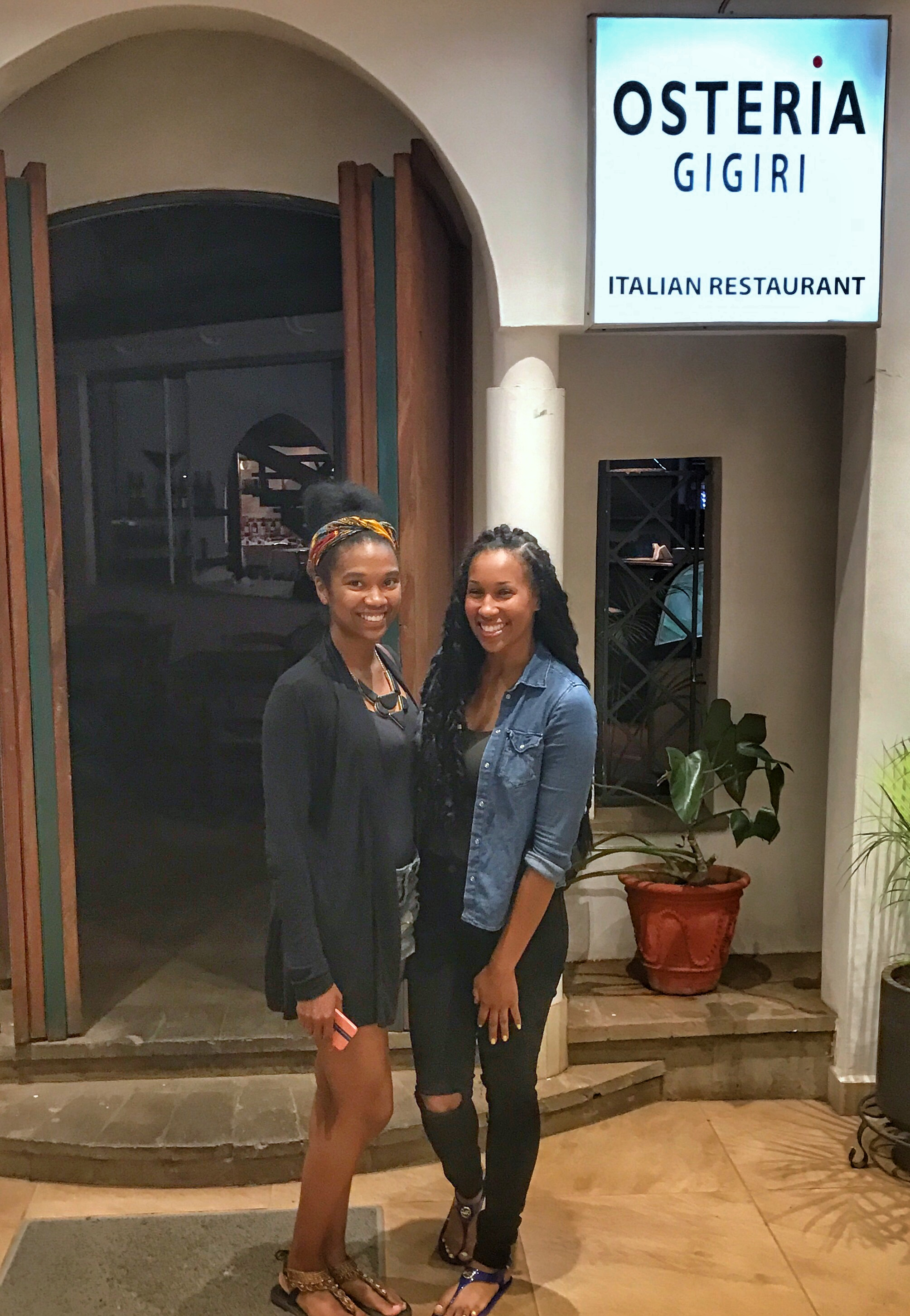Me & my mentee, Tassion at Osteria