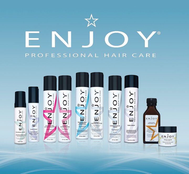ENJOY Hair Care - With decades of industry experience in professional hair care, ENJOY understands and supports all aspects of the hair care experience including salon ownership and management, branding, creative, manufacturing, distribution, education, motivation, merchandising, advertising and the customer experience.