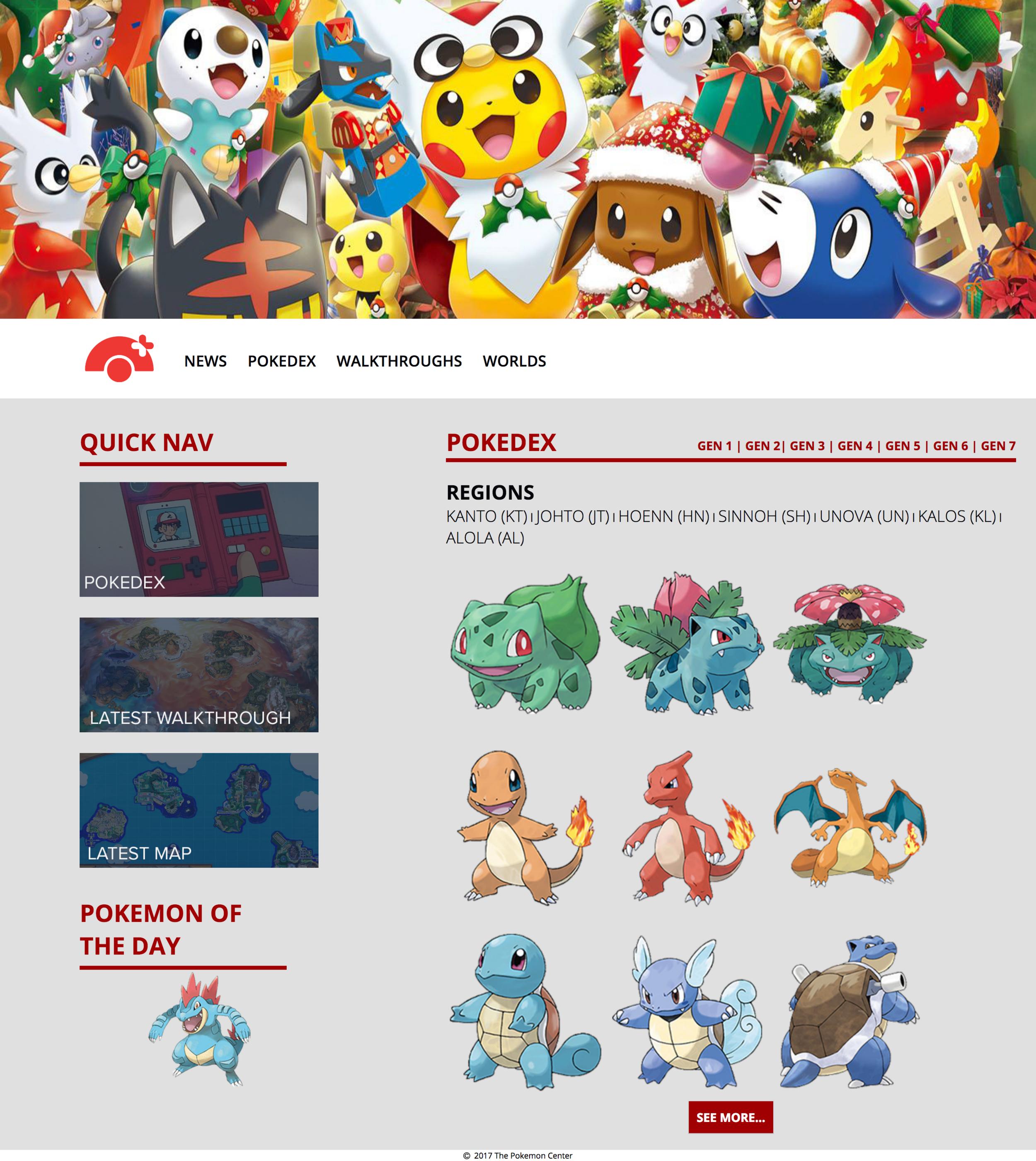 Pokemon Center - Pokedex