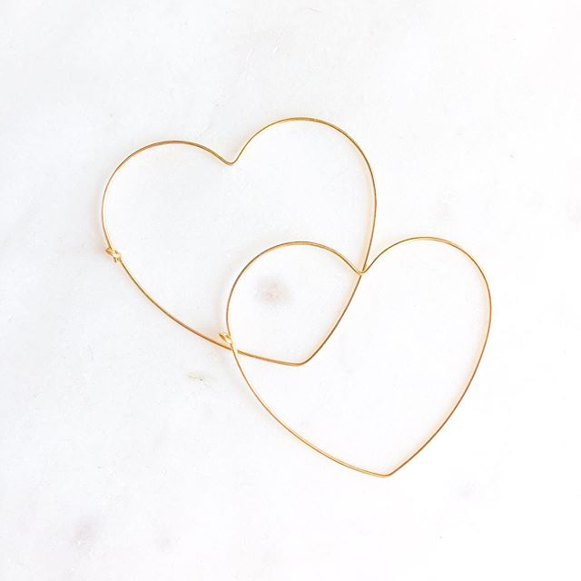 Gold filled heart hoops. Also available in sterling silver ❤️❤️❤️