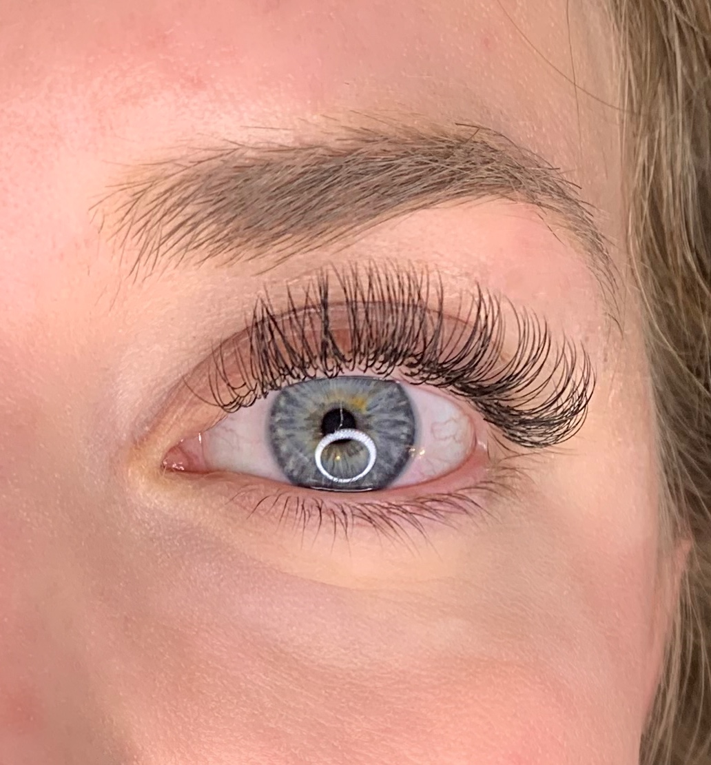 Classic - A Classic set of lash extensions in which one eyelash extension is skillfully placed onto each natural lash. This creates a more natural