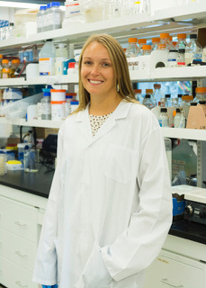 Dr. Lisa Reynolds in her laboratory