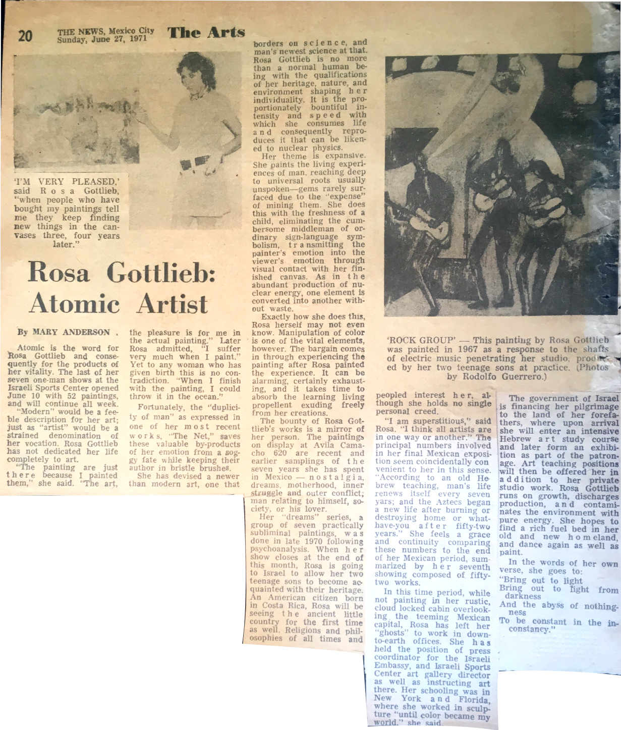 """Atomic Rosa"" Mexico City News 1971"