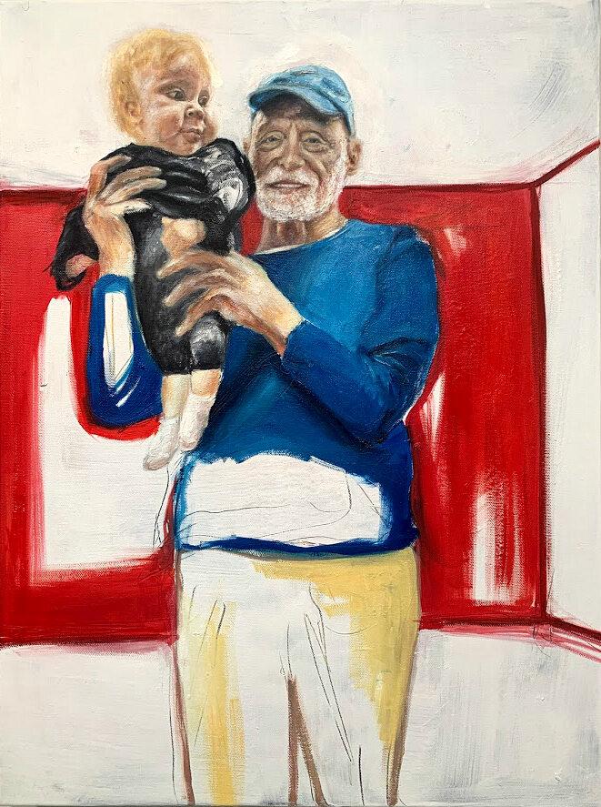 """Abuelito"" - Oil on Canvas, SOLD"