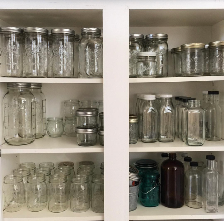 Rethink kitchen cabinets and kitchen storage! Follow @_takingmylifeback on Instagram for more green tips and inspiration.