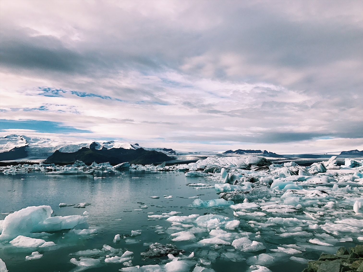 Jökulsárlón is a magnificent glacial lagoon in South-Iceland right by ring-road 1.