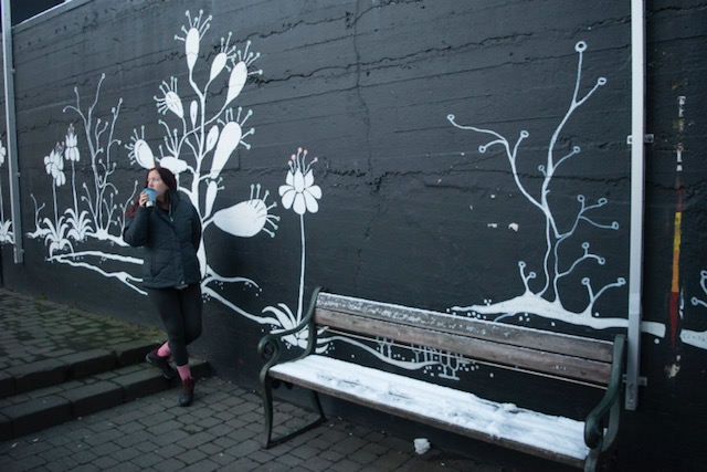 One of many street art installations in Reykjavik