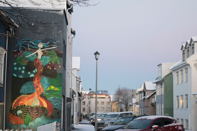 One of the many murals in Reykjavik!