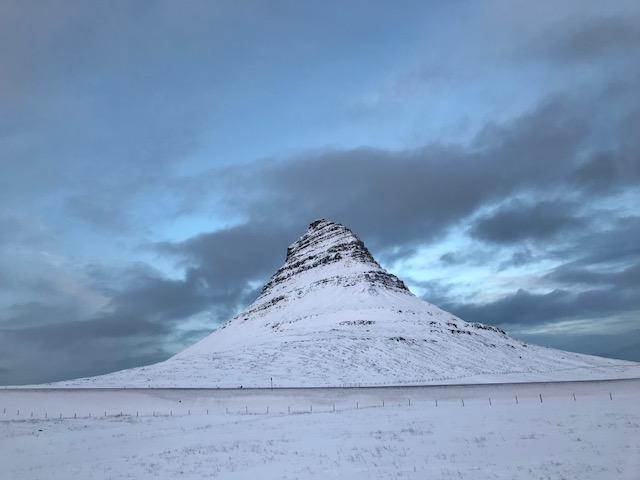 Kirkjufell mountain in west Iceland