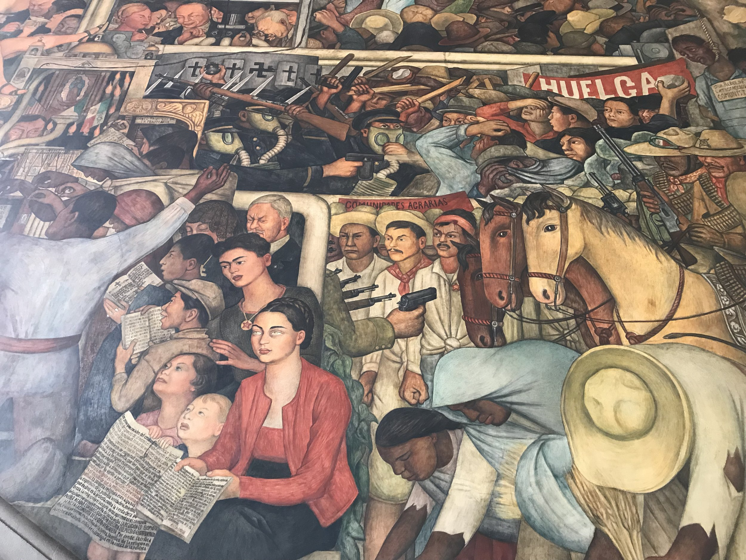 One of Diego Rivera's murals in the National Palace depicting Frida