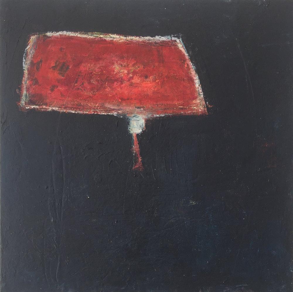 "Portage  , oil on cradled panel, 12"" x 12"", 2016"