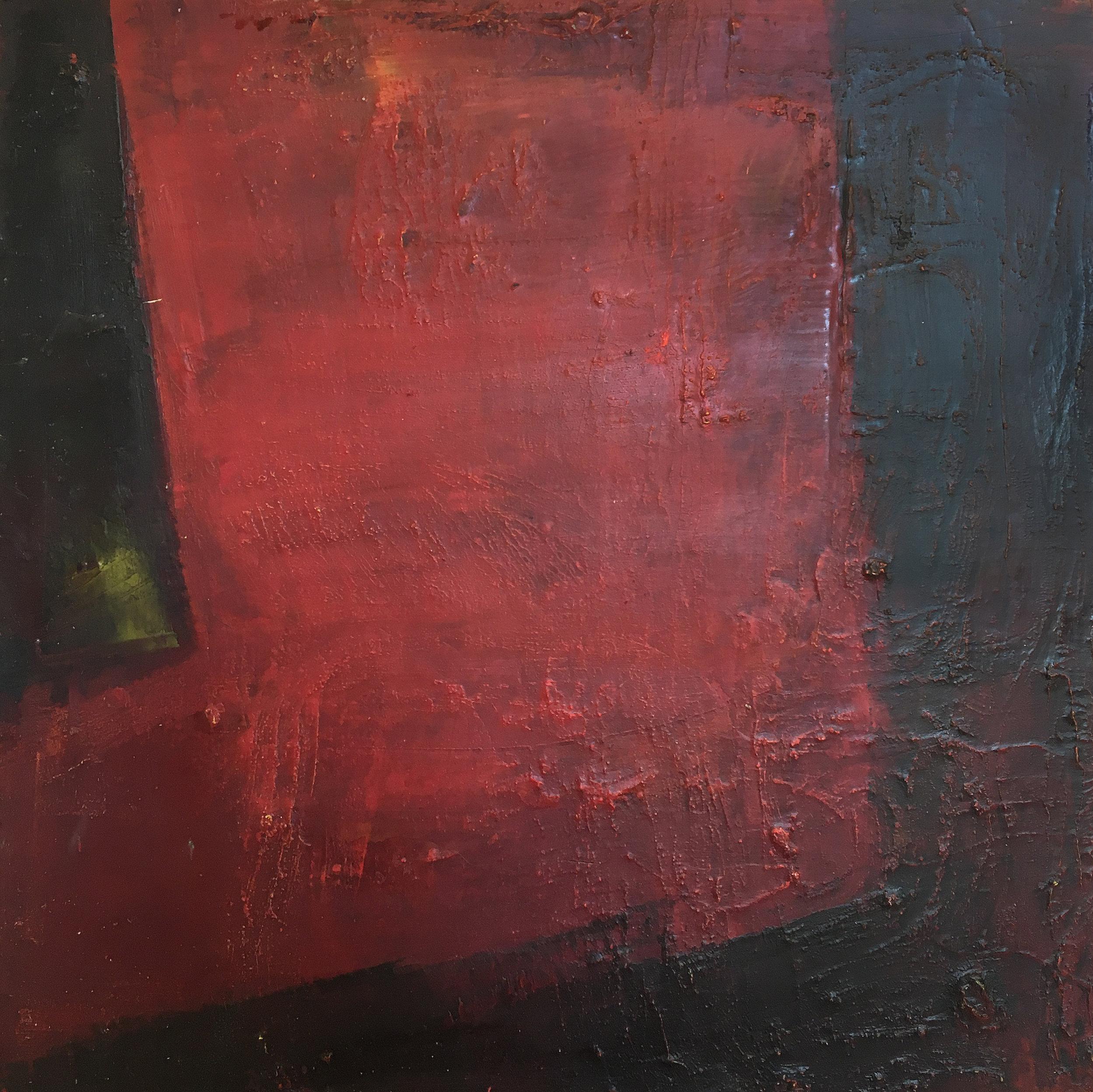 "The Dark  , oil on cradled panel, 12"" x 12"", 2017"