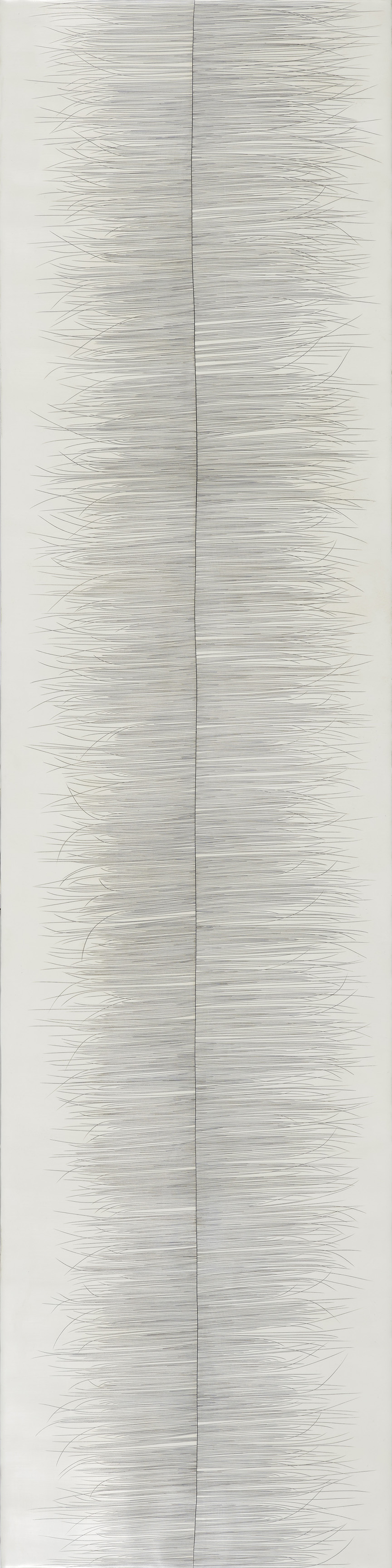 Threadline #10  , encaustic on cradled panel, 48x12, 2017